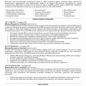 Human Resource Resume Template - 25 Unique Human Resources Resume Objective