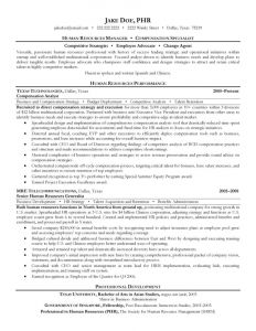 Human Resources Manager Resume Template - Human Resources Lounge Hsba