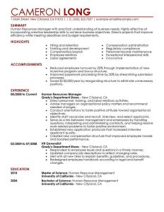 Human Resources Resume - Hr Generalist Resume Best Human Resources Resume Example Awesome