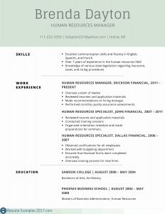 Human Resources Resume Template - Human Resource Resume Example Paragraphrewriter
