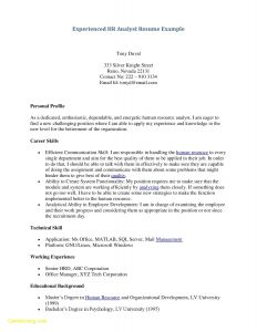 Human Resources Resume Template - 49 New Examples Human Resources Resumes