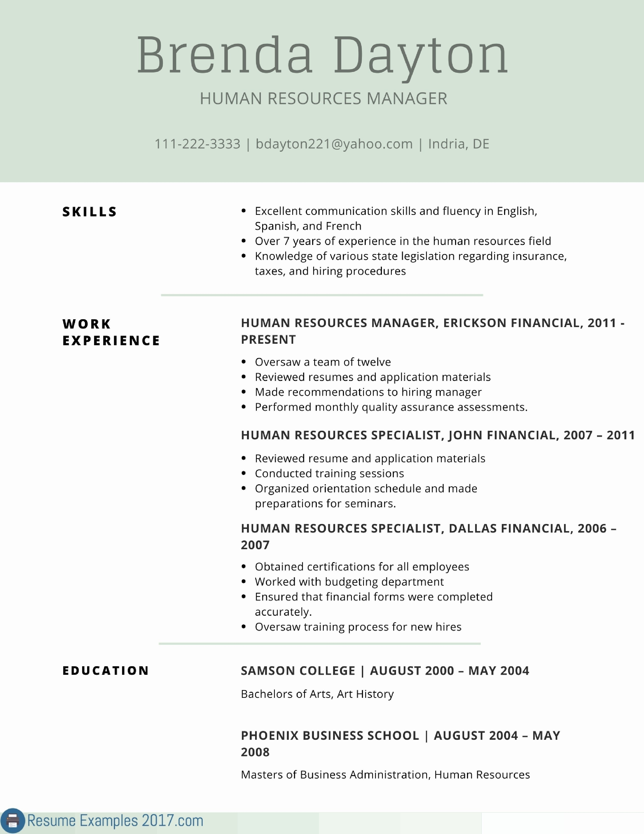 human resources resume template Collection-Fresh New Resume Sample Best Resume Cover Luxury formatted Resume 0d It Professional Resume Fresh · · Human Resources 15-l