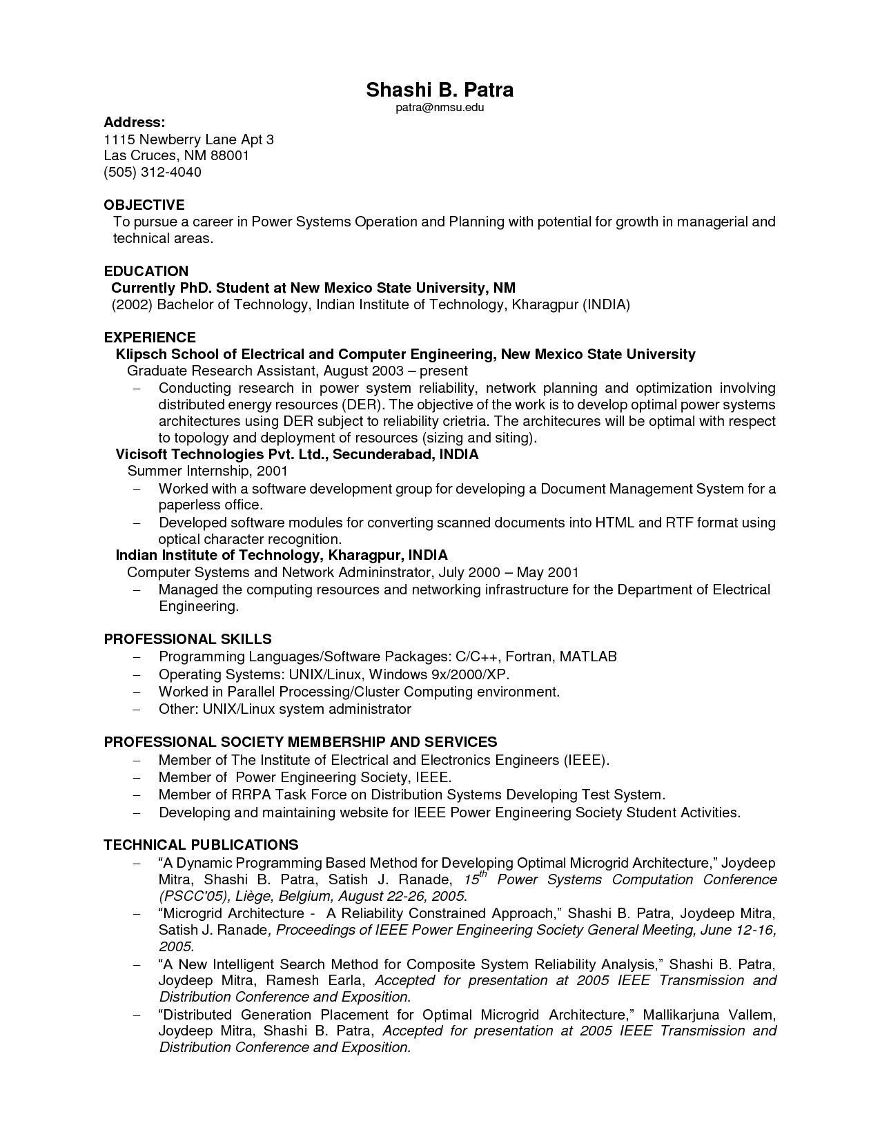 11 indian resume examples