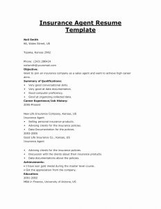 Insurance Agent Resume Template - Insurance Certificate Template New Stay at Home Mom Cover Letter New