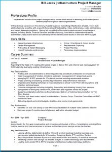 It Project Manager Resume Template - Project Manager Cv Example Cv Template and Writing Guide