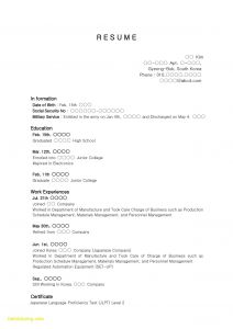 Japanese Resume Template - High School Student Resume with No Work Experience Awesome Samples