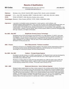 Java Resume - Experience Section Resume Fresh Experience Section Resume