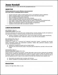Laborer Resume Template - 23 Lovely Resume Template Construction Worker
