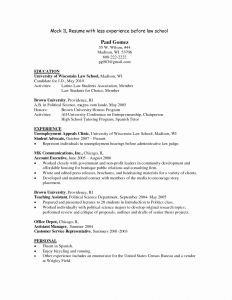 Law School Application Resume Template - Resumes for Legal Secretaries Best Resume Example Awesome Bsw