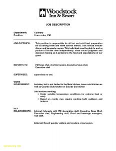Line Cook Resume Template - Line Cook Job Description for Resume Best Line Cook Job Description