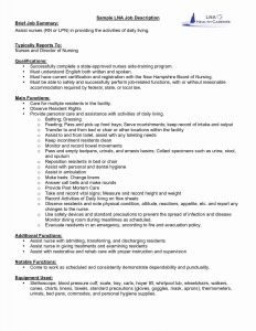 Lpn Resume Template Free - Sample Resume for Experienced Lpn Resume Templates Inspirational Lpn