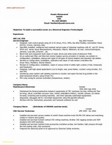 Maintenance Technician Resume - Auto Service Technician Resume Fresh Maintenance Tech Resume Samples