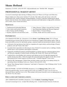 Makeup Artist Resume Template - Freelance Makeup Artist Resume Unique Examples Free Download Skills