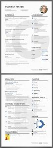 Marissa Mayer Resume Template - 16 Best Cv Graphique Images On Pinterest