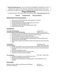 Marketing Resume - Marketing Manager Resume Fresh New Programmer Resume Lovely Resume