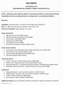 Marriott School Resume Template - 39 Awesome College Application Resume Template