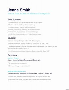Massage therapist Resume Template - 17 Massage therapist Resume