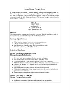 Massage therapy Resume Template - Massage therapist Resume Example Fresh Resumes Objective Statement
