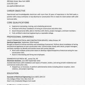 Mechanic Cv Example Resume - Sample Electrician Resume and Skills List