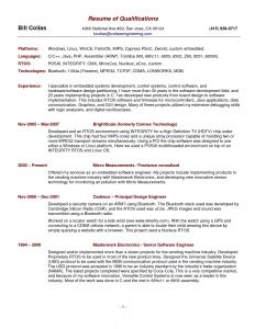 Mechanical Engineer Resume Template - Free Resume Template Summary Qualifications