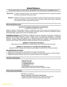 Mechanical Engineer Resume Template - Mechanical Engineering Student Resume Examples Inspirational 25