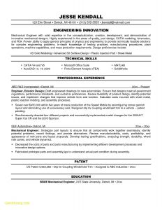 Mechanical Engineering Resume Template - Mechanical Engineer Resume Sample Beautiful Resume 3d Printing Https