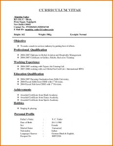 Mechanics Cv Template Resume - Curriculum Vitae Resume Template Resume Template Doc Free Download