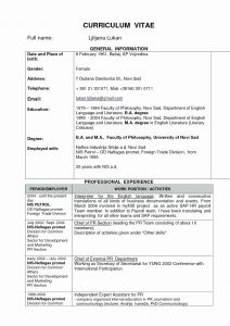 Med School Resume Template - Resume for Medical School Beautiful Word Template for Resume New