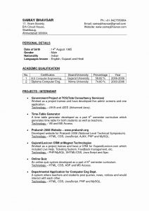 Media Resume Template - Resume format for Word Inspirational Elegant Latest Resume format S
