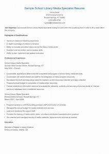 Media Specialist Resume - Supply Chain Management Resume Sample Best Sample School Library