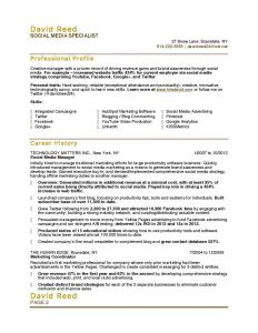 Media Specialist Resume - How to Write A Resume for An Internship Popular Fresh Sample College