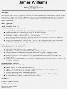 Medical assistant Resume Template Free - 26 New Excellent Resume Templates