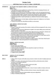 Medical Office Manager Resume Template - Medical Resume Templates 2019