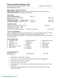 Medical Resume - Medical Resume Template Free Elegant New Graduate Nurse Resume