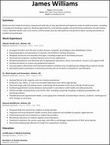 Medical Resume Template Free - Resume Examples Free Unique Simple Resume Sample Resume Sample for