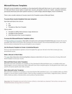 Microsoft Resume - Free Resume Templates Word Luxury Elegant Microsoft Word Resume