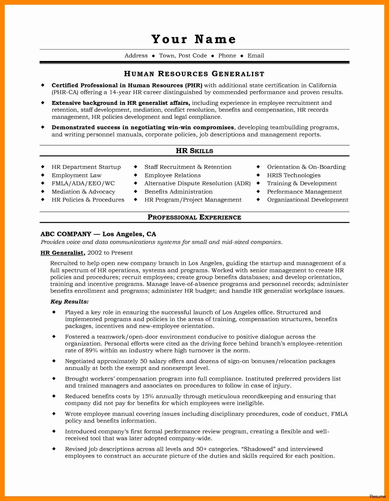 mid career resume Collection-Example A Professional Resume For A Job Free Downloads Resume For It Job Unique Best Examples Resumes Ecologist Resume 0d 2-g