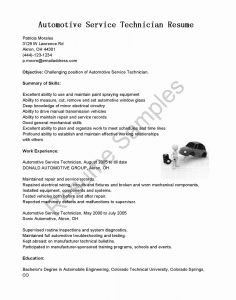 Motor Mechanic Resume - Master Technician Resume Lovely Surgical Tech Resume Best
