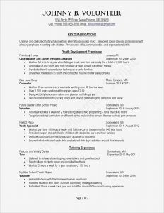 Msw Resume Template - social Work Resume Template social Work Resume Examples Beautiful