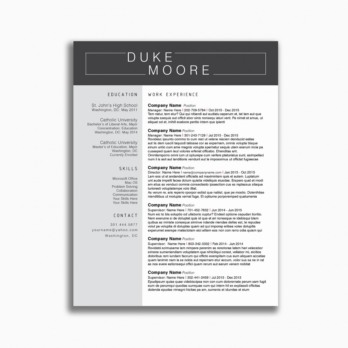 9 music business resume template samples