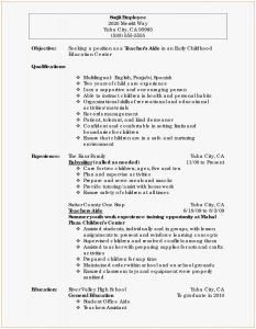 Music Resume Template - Tutor Resume Example