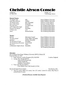Musician Resume Template - Musical theatre Resume Lovely Actor Resume Template Sample Resume