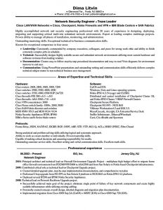 Network Engineer Resume Template - Download Awesome Network Security Engineer Sample Resume