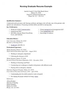 Nursing Resume Template Microsoft Word - 64 Concepts Sample Nursing Resume