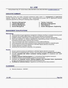 Operations Resume - √ Free Executive Summary Template Cool Operations Management Resume