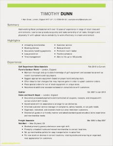 Outdoor Resume Template - New Resume Template Customer Service