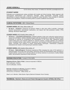 Pediatric Nurse Resume - Education Certificate New Create Nursing Resume New Best Rn Bsn