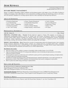 Pmi Resume - Construction Management Resume Beautiful Project Manager Resume