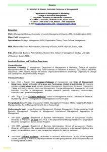 Professor Resume - Resume format assistant Professor Lecturer Sample Pdf New for
