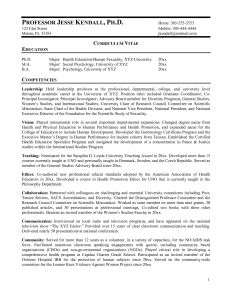 Professor Resume - Curriculum Vitae College Professor